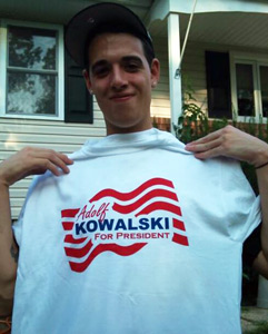 Adolf Kowalski for President T-Shirt